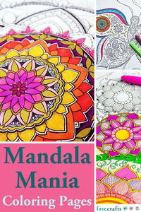 Mandala Mania: 16 Mandala Coloring Pages