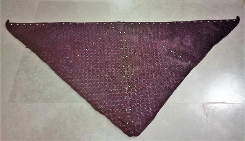 Beaded Triangular Shawl