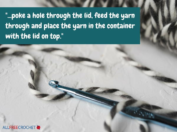 Threading Your Yarn Through a Container