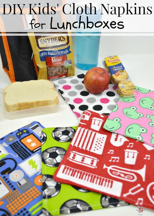 Kids' Cloth Napkins for the Lunchbox