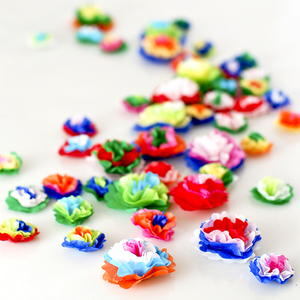 Mini Tissue Paper Flowers