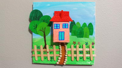 Kids Summer Crafts House Project