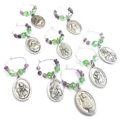 Saint Wine Charms
