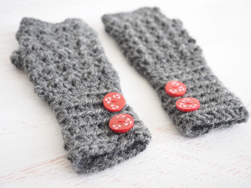 Aligned Cobble Fingerless Gloves Crochet Pattern Allfreecrochetcom