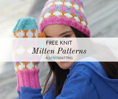 36 Free Knit Mitten Patterns