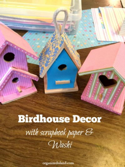 Decorated Bird Houses