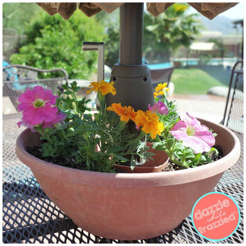 How to Make an Umbrella Table Flower Planter