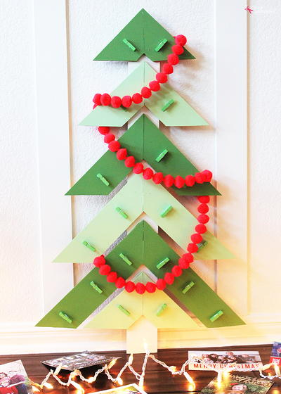 Modern Christmas Tree DIY Card Holder
