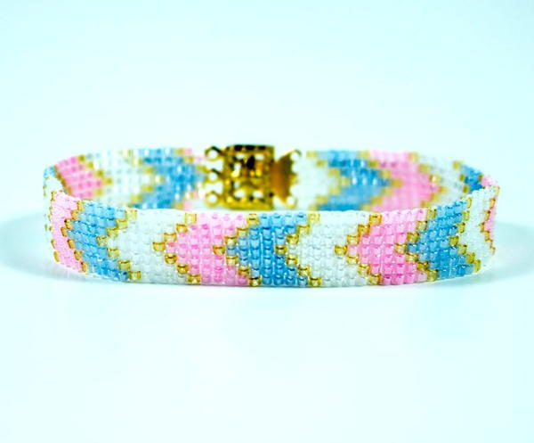 Square Stitch Chevron Bracelet