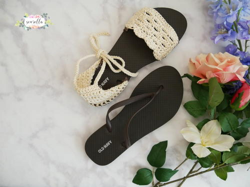 elegant and sturdy package crazy price aesthetic appearance Sandals using Flip Flop Soles | AllFreeCrochet.com