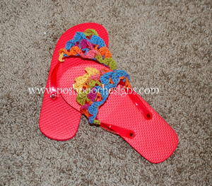 Crocodile Stitch Flip Flop Toppers