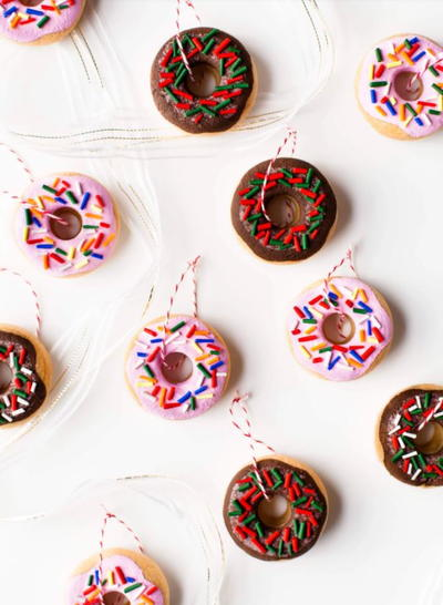 Salt Dough Donut DIY Ornaments