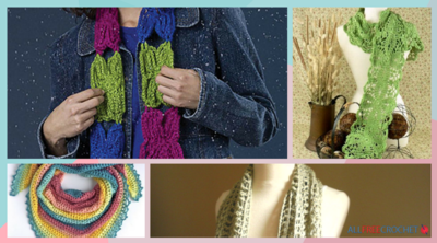 14 Crochet Spring Scarf Patterns (Summer Too!)