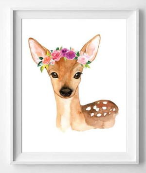 Watercolor Woodland Animals Free Printable Art Allfreepapercrafts Com