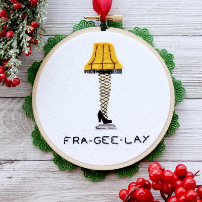 A Christmas Story DIY Embroidery Hoop Ornament