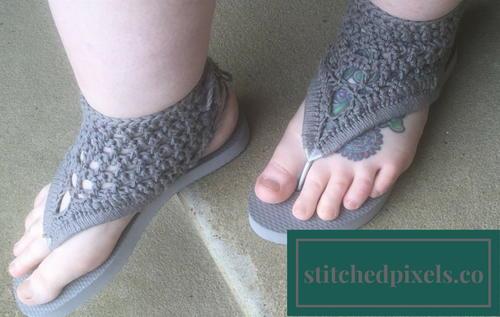 Adult Crochet Gladiator Flip Flop
