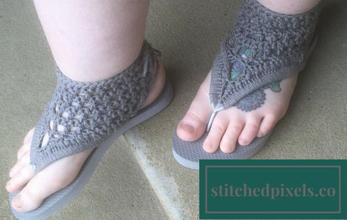 c57dc9336e9c0 Adult Crochet Gladiator Flip Flop Sandals | AllFreeCrochet.com