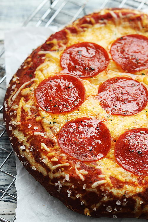 Homemade Pretzel Crust Pizza