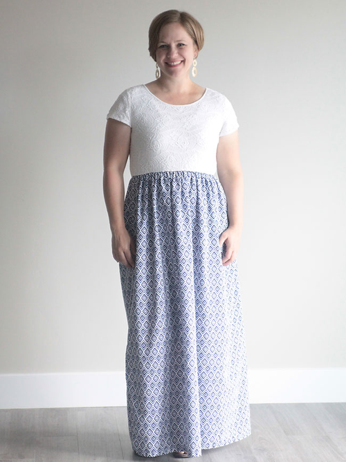 Cap Sleeve DIY Maxi Dress