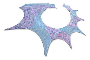 Fractal Wing Shawl Pattern