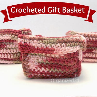 Easy Crochet Square Basket