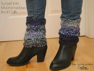 Sunset into Moonshadows Boot Cuffs
