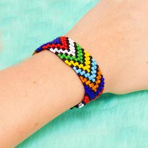 photo relating to Free Printable Bead Loom Patterns titled African Bead Loom Bracelet