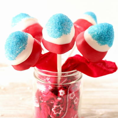Firecracker Strawberry Pops