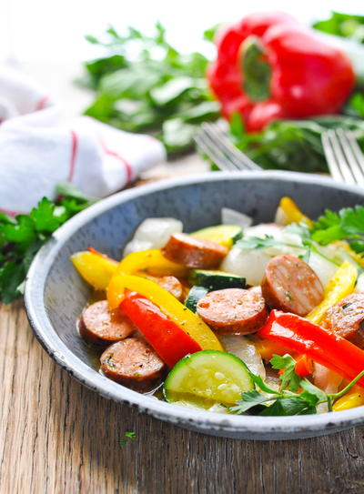 Foil Pack Italian Sausage and Peppers
