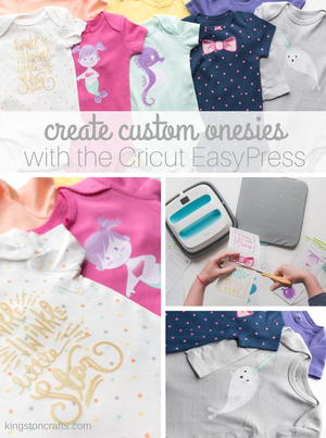 Create Custom Onesies with the Cricut EasyPress