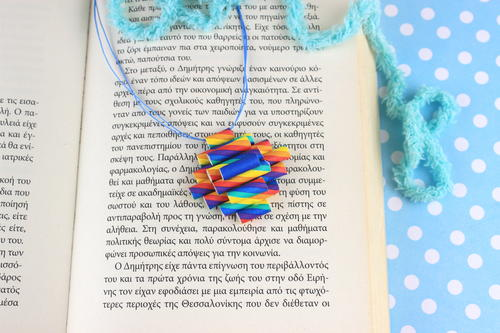 Necklace with Rainbbow Drinking Straws