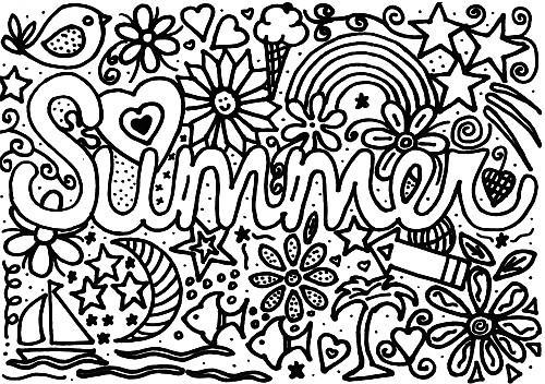 Summer Coloring Page For Kids Allfreekidscrafts Com
