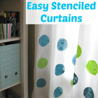 Easy Stenciled Curtains