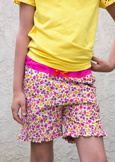 Simple Ruffle Shorts Sewing Pattern