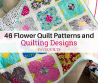 46 Flower Quilt Patterns and Quilting Designs