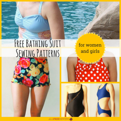 10 Free Bathing Suit Sewing Patterns for Women and Girls