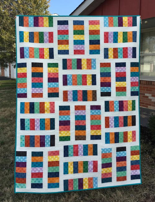 Rainbow Coin Quilt Pattern