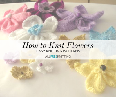 0cc68020f2a1c How to Knit Flowers: 39 Easy Knitting Patterns | AllFreeKnitting.com
