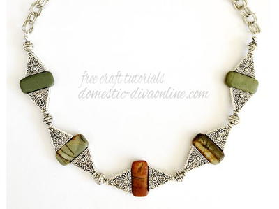 Jasper Stone and Silver Necklace