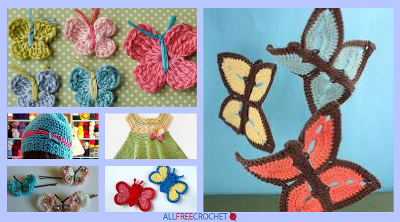 35+ Free Crochet Butterfly Patterns | AllFreeCrochet com