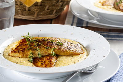 Country-Style Fish  Grits