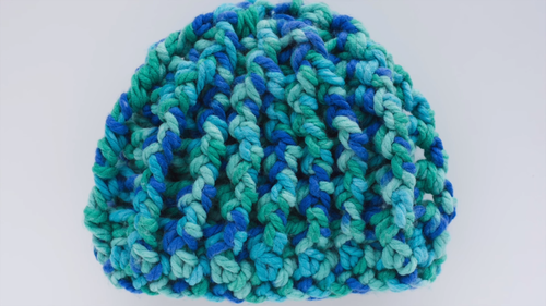 Chunky Ribbed Crochet Hat Pattern