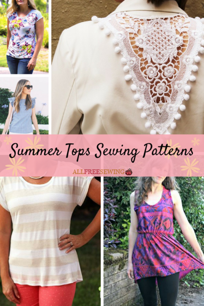 28 Summer Tops Sewing Patterns