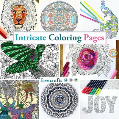 - 111 Intricate Coloring Pages FaveCrafts.com