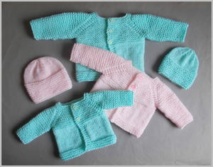 PREMATURE BABY CLOTHING BOYS KNITTED CARDIGAN SMALL EARLY PREEMIE WHITE BLUE