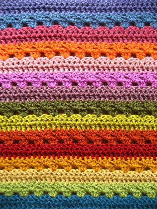 Relaxing Rainbow Crochet Blanket