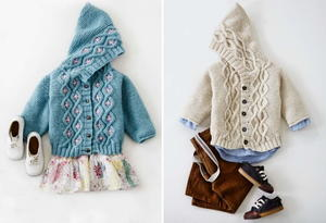 Cabled Baby Cardigan Sweater