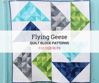 36 Free Flying Geese Quilt Block Patterns