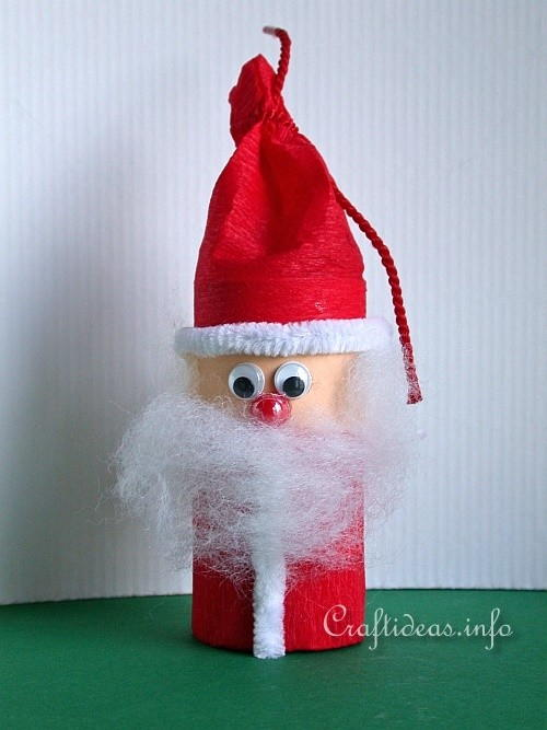 Toilet Paper Tube Santa Craft