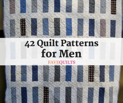 42 Quilt Patterns for Men
